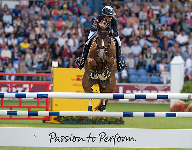 Flora de Mariposa (BWP: For Pleasure - Adeline x Power Light) ridden by Penelopé Leprevost (FRA) Photo: FEI/Caremans