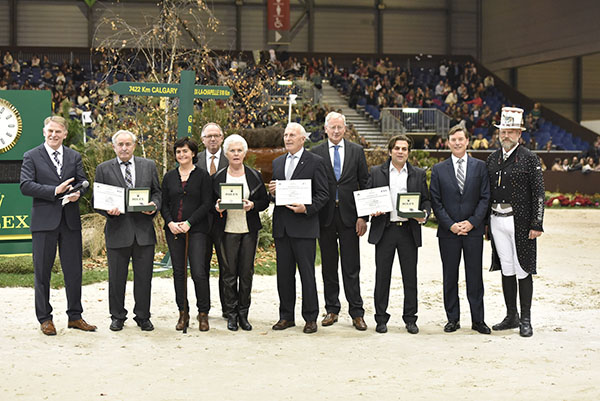 Presentation of the World Breeding Federation for Sport Horses (WBFSH) awards for 2015